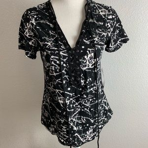 J for Justify lace up top NWT